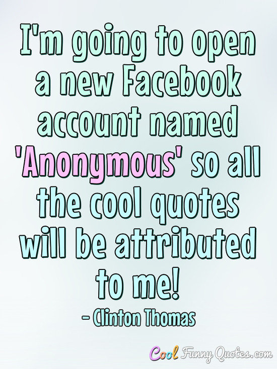 Facebook anonymous
